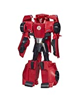 Transformers Robots in Disguise 3-Step Changers Sideswipe Figure, Multi Color