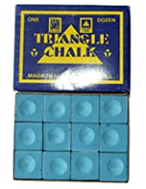 Billiedge Triangle Billiard Snooker and Pool Chalk 12 Pcs Blue