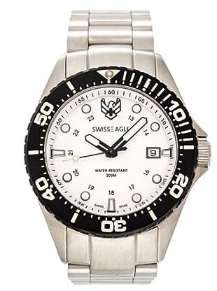 Swiss Eagle Reloj Dive Broadside blanco