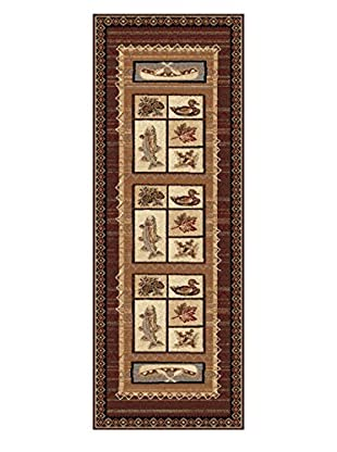Universal Rugs Nature Lodge Runner, Brown, 3' x 8'