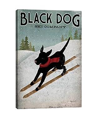 Ryan Fowler Black Dog Ski Gallery Wrapped Canvas Print