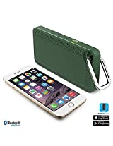 iLuv Aud Mini Smart 6 Slim Portable Weather-Resistant App-Enabled FM Radio and Bluetooth Speaker for iPhone 6/6 Plus 5s/5c/5 4S; Samsung GALAXY S5 S4 S3 Note 4 Note 3; LG; HTC; iPad; iPad mini and other Bluetooth-compatible Smartphones and Tablets-Green