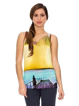 Jota + Ge Camiseta Isabel (Celeste / Amarillo)