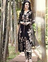 Shree Fashion Woman's Cotton With Dupatta [Shree (49)_Black]