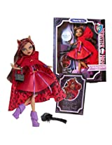 """Mattel Year 2012 Monster High """"Once Upon A Time Story"""" Series 11 Inch Doll Set Clawdeen Wolf As """"Little Dead Riding Wolf"""" With Basket, Hairbrush And Storybook Cover Shot"""