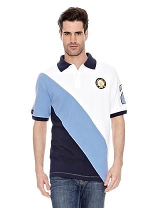 Toro Polo Deportivo Escudo (Blanco / Azul)