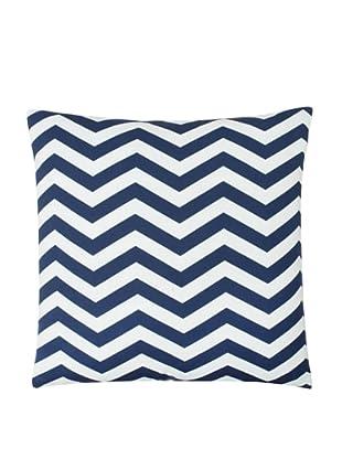 Twinkle Living Zig-Zag Pillow Cover, Navy/White, 18