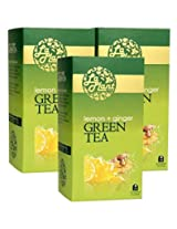 LaPlant Lemon and Ginger Green Tea - 75 Tea Bags (Pack of 3)