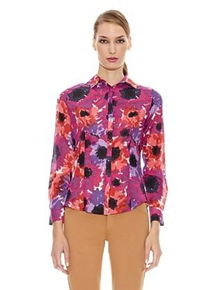 Spagnolo Camisa Algodón Seda Rejón (Rosa)