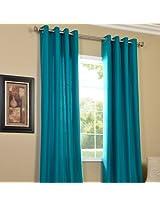 PINDIA Eyelet Polyester Window Curtain - 4ft, Aqua