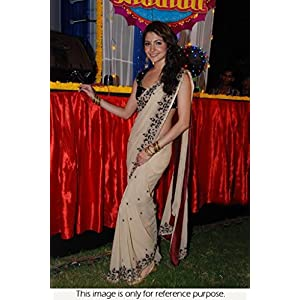Bollywood Replica Anushka Sharma White Color Party Wedding Wear Saree
