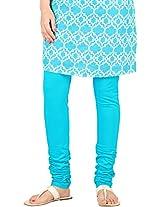 Stop Women's Knit Churidar (4595665-Blue-Small)
