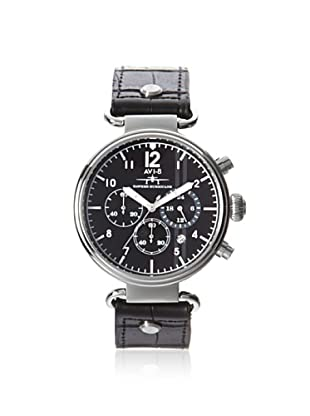 AVI-8 Men's 4014-01 Hawker Hurricane Black Stainless Steel Watch