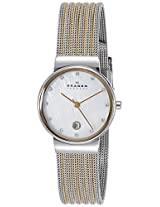 Skagen Analog Mother of Pearl Dial Women's Watch - 355SSGSI