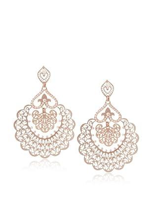 LK Designs Rose Gold Silk Fan Earrings