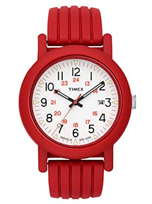 Timex T2N715. Reloj de Señora movimiento de cuarzo con correa de caucho Rojo