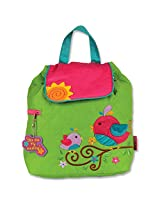 Stephen Joseph Girls' Quilted Backpack, Bird, One Size