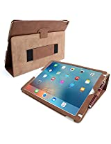 iPad Pro Case, Snugg™ - Smart Cover with Flip Stand & Lifetime Guarantee (Brown) for Apple iPad Pro (2015)