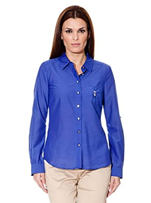 Cortefiel Bluse Safari (Blau)