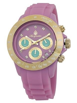 Burgmeister Damen-Armbanduhr Chronograph Quarz Silikon BM514-990A