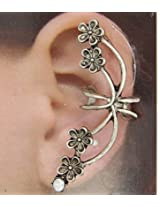 Sassy Girl Collectionz Exclusive Collection Antique Bronze Flowers and Stone EarCuff (Left Ear Only) Earrings for Women