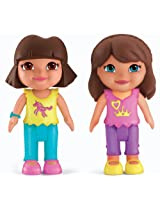 Fisher-Price X0482 Fisher-Price Dora The Explorer Playtime Together Dora and Me Play Dates : Dora and Brunette Friend