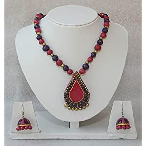 Anikalan Designs Due Drops Necklace Set