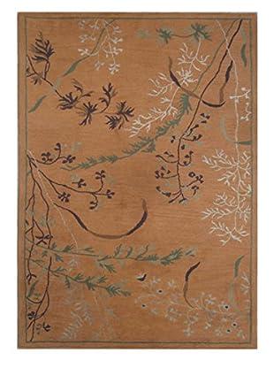 Wildflowers Rug, Brown, 5' x 8'