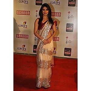 Indian Bollywood Exclusive/Traditional Designer Priyanka Chopra Saree, Sari