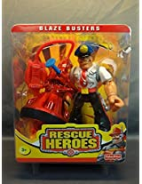2000 Fisher Price Rescue Heroes Blaze Busters Sergeant Siren Police Officer Action Figure