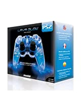 Playstation 2 Lava Glow Wired Controller in gift box - Blue