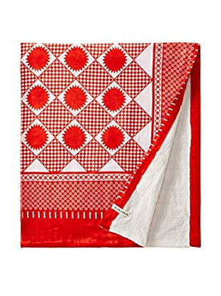Nomadic Thread Swahili Towel, Orange/White