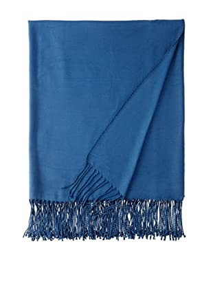 Nine Space Viscose from Bamboo Solid Throw Blanket (Midnight Blue)