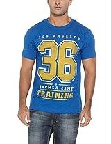 Ferrous Mens Cotton Crew Neck T-Shirt Dark Blue (Medium)