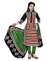 Jevi Prints Multicolor Cotton Printed Unstitched Dress Material