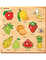 Kinder Creative-KCS-01-10 Fruits with Knobs(Multicolour)