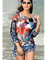 Gauzy Artistic Beach Dress.