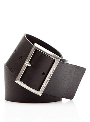 Calvin Klein Jeans Cinturón Piel CW22CY (Negro)