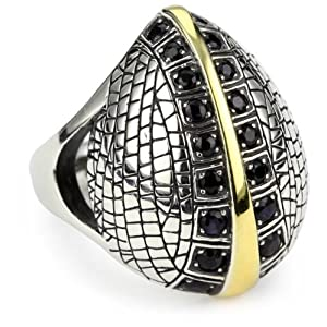 "Elizabeth and James ""Puck's Garden"" Black Sapphire Ring Size 8"