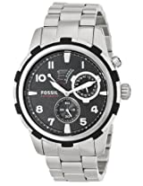 Fossil Men's ME3038 Dean Analog Display Automatic Self Wind Silver Watch