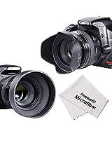 Neewer 52MM Accessory Kit for NIKON D7100 D7000 D5300 D5200 D5100 D5000 D3300 D3200 D3100 D3000 D90 D80 DSLR Cameras: Lens Hoods + UV Filter + Lens Cleaning Pen + Microfiber Lens Cleaning Cloth
