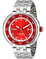 red line Men's RL-50039-55 Driver Analog Display Japanese Quartz Silver Watch