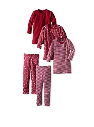 Red Wagon Baby Girl's 5-Piece Mix and Match Set (Ruby)