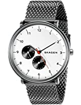 Skagen End-of-season Hald Analog White Dial Men's Watch - SKW6188