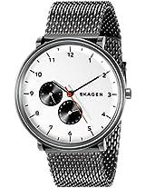 Skagen Hald Analog White Dial Men's Watch - SKW6188