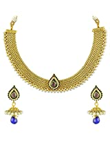 Ethnic Indian Bollywood Jewelry Set Traditional Fashion Necklace SetABNE0343BL