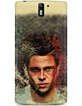 CASE U Back Cover Fight Club Brad Pitt Designer Case for Oneplus One