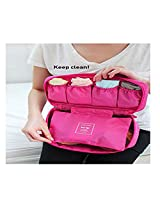 Undergarments And Innerwear Storage Bag Travel Organiser Polyester Pouch Pink - MOTUDPP