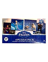 Disney Frozen 12 Piece X4 Puzzles Featuring Elsa, Anna, Kristof And Olaf