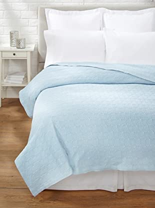 Belle Epoque Rose Coastal Matelassé Coverlet (Cashmere Blue)